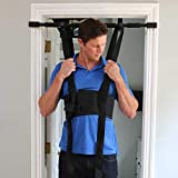 Sit and Decompress Back Stretcher Spinal Decompression Back Traction Upright Inversion Table Made in USA Chiropractor Designed (Small Harness No Bar)