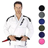 Elite Sports IBJJF Ultra Light Brazilian Jiu Jitsu BJJ Gi W/Preshrunk Fabric & Free Belt (White, A1)