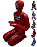 Ring to Cage Youth or Adult Deluxe MMA Grappling Jiu Jitsu Ground & Pound Dummy 3.0 (Adult-Red)