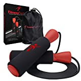 Adjustable Jump Rope with Carrying Pouch for Men and Women - Tangle-Free Skipping Rope for Gym Workout, Crossfit, Fitness Exercise, WOD, Boxing, MMA and Endurance Training