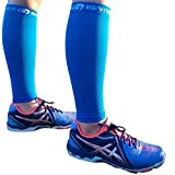BeVisible Sports Calf Compression Sleeve - Leg Compression Socks For Men and Women | Calf Sleeves for Shin Splints Running Cycling Travel Nursing Maternity Varicose Veins Calf Pain Relief & Recovery