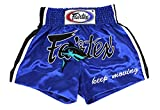 Fairtex Muay Thai Boxing Shorts Traditional Styles (Blue, Medium)