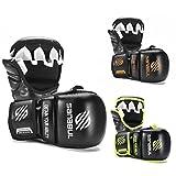 New Item Sanabul Essential 7 oz MMA Hybrid Sparring Gloves (Black/Silver, Large/X-Large)