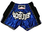 Lumpinee Retro Original Muay Thai Shorts for Kick Boxing Fight LUMRTO-010 (M, Blue)