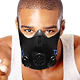 Workout Training Mask for Altitude Elevation | Running, Gym, Sports, Fitness Fitness [Men's Small]