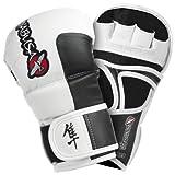 Hayabusa Official MMA Tokushu 7oz Hybrid Gloves - White (XL)