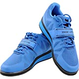 Nordic Lifting Powerlifting Shoes for Heavy Weightlifting - Men's Squat Shoe - MEGIN (Blue, 9.5 US)
