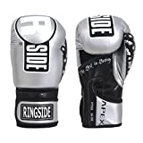 Ringside Apex Flash Sparring Gloves, SV/BK, 14 oz