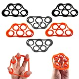 5BILLION Finger Stretcher Hand Resistance Band, 6 Pieces (Assorted Colors)