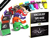 Physix Gear Sport Kinesiology Athletic Tape - Sports Injury Tape for Knee, Joint, Muscle Support - Adhesive Kinetic Tape- Improve Blood Circulation, Swelling, Strain Relief (1 Pk Black)