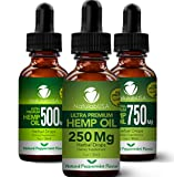 Hemp Oil - Fast Results - Relieve Chronic Pain - Ultra Premium Hemp Extract - Pure Hemp Seed Oil - Better Sleep - Healthier Skin - Smoother Hair - 250mg - 1oz- Natural Peppermint Flavor