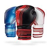 Sanabul Core Boxing Gloves (Black/Red, 12 oz)