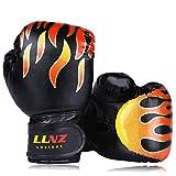 Luniquz Kids Boxing Gloves for Punching Bag Training, 4 OZ 6 OZ Fit 3 to 14 YR, Black