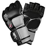 Hayabusa Tokushu 4oz Pro Style MMA Gloves - Black/Slate Grey, X-Large