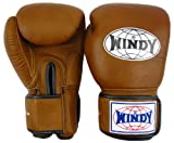 Windy Thai Style Training Gloves-12oz.-Natural Leather