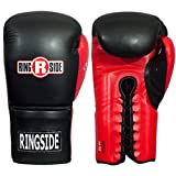 Ringside Lace IMF Tech Boxing Training Sparring Gloves Black, 16 OZ