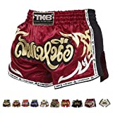 Top King Boxing Muay Thai Shorts Normal or Retro Style Size S, M, L, XL, 3L, 4L (Retro Red 2 XL)