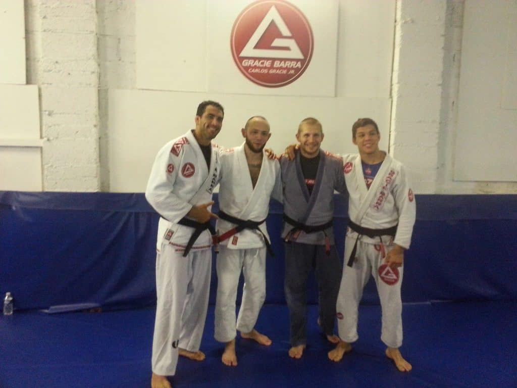 Rob receiving his black belt from Braulio Estima