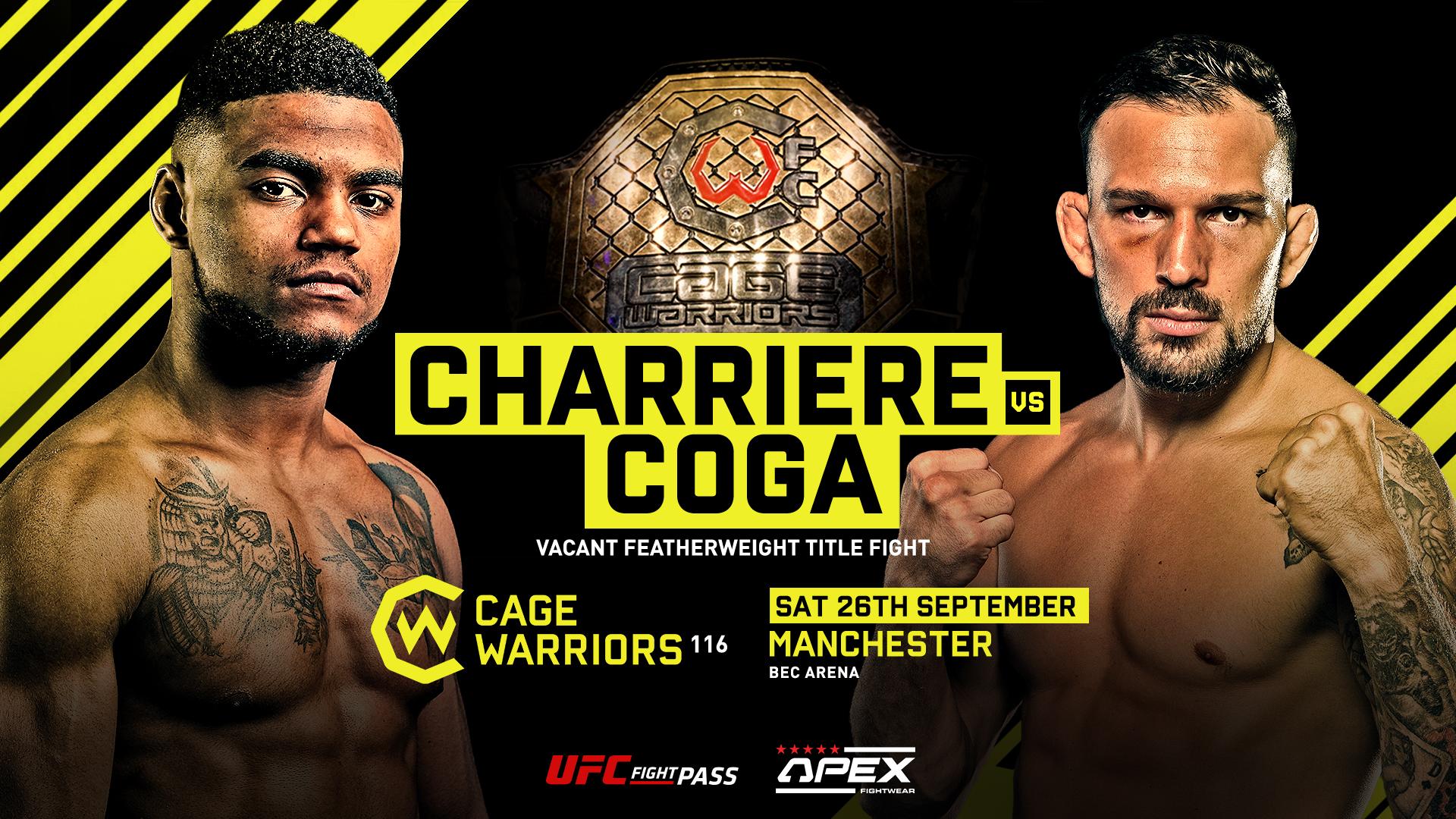 Cage Warriors 116 – Charrière vs Coga Announced