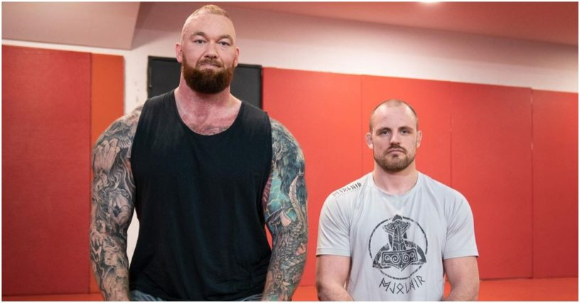 (Watch) World's Strongest Man Hafthor Bjornsson Rolls with Gunnar Nelson